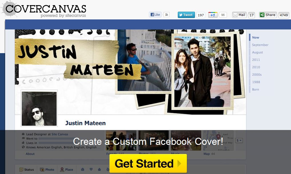 Create Awesome Cover Photo For Facebook Timeline Profile